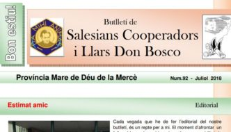 Boletín informativo de la Provincia Mare de Déu de la Mercè. Estiu 2018