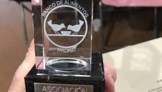 Reconocimiento de la Asociación como entidad ejemplar del Banco de Alimento de Madrid