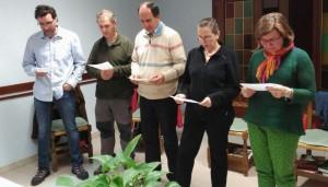 Promesas de seis aspirantes en el Centro de Huesca