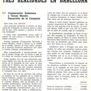 Tres realidades en Barcelona
